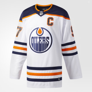 Oilers McDavid Away Authentic Pro Jersey WHITE CA6922
