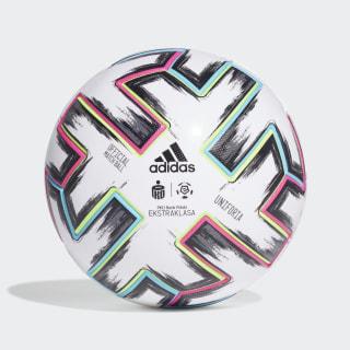 Balón Ekstraklasa Pro White / Black / Signal Green / Bright Cyan FH7322