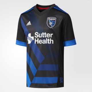 Earthquakes Home Jersey Black / Master Blue AY6404