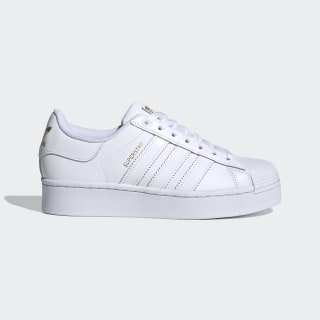 Tenis Superstar Bold Mujer Cloud White / Cloud White / Gold Metallic FV3334