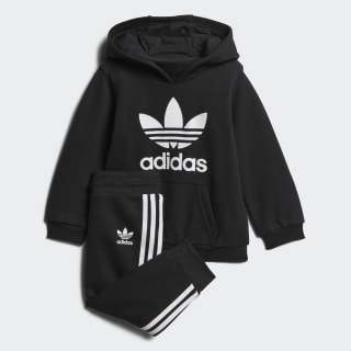Trefoil hoodiesæt Black / White D96066