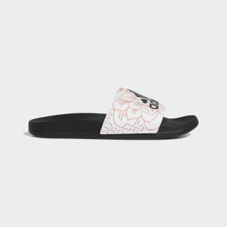 Adilette Comfort Slides Cloud White / Core Black / Signal Coral FV6332