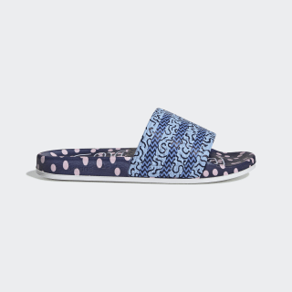Adilette Slides Collegiate Navy / Glow Blue / Real Blue EE5055