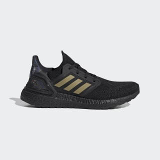 Sapatos Ultraboost 20 Core Black / Gold Metallic / Signal Coral FW4322