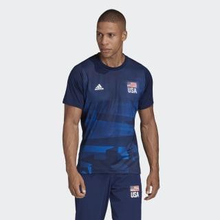 USA Volleyball Primeblue Replica Tee Team Navy / Glory Blue / White FK1024