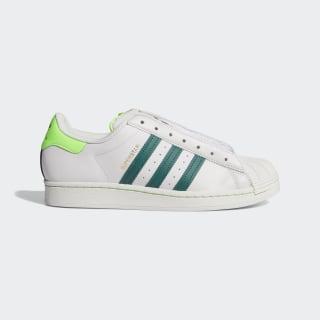 Кроссовки Superstar Laceless grey one f17 / collegiate green / solar green FV2804