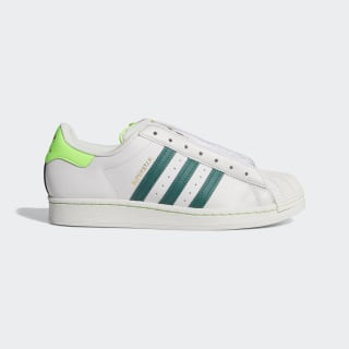 Superstar Laceless Shoes Grey One / Collegiate Green / Solar Green FV2804