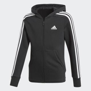 Veste à capuche Essentials 3-Stripes Black / White / White BP8622