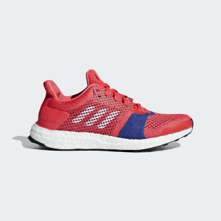 Кроссовки для бега Ultraboost ST shock red / ftwr white / active pink B75867