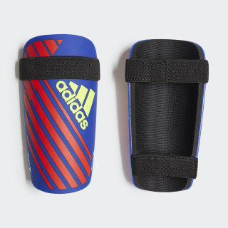 X Lite Shin Guards Bold Blue / Active Red / Solar Yellow DN8609