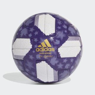 MLS All-Star Game Official Match Ball White / Regal Purple / Light Purple / Gold Metallic DY2521