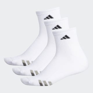 Cushioned Quarter Socks 3 Pairs XL White / Black / Granite S49004