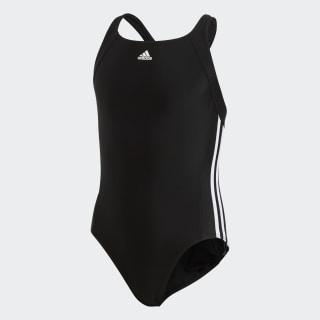 adidas essence core 3 stripes swim suit youth Black/White BP5449
