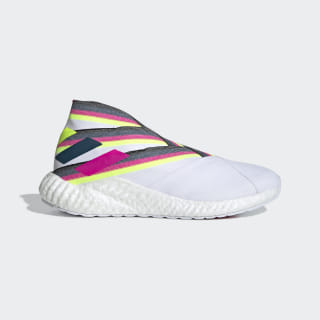 Футбольные кроссовки Nemeziz 19+ TR ftwr white / shock pink / solar yellow EE7898