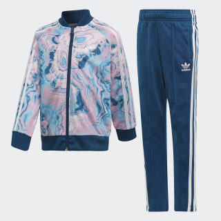 Marble SST Track Suit Multicolor / Legend Marine / White DV2341