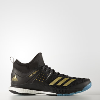 Crazyflight X Mid Shoes Core Black / Gold Metallic / Icey Blue BY2446