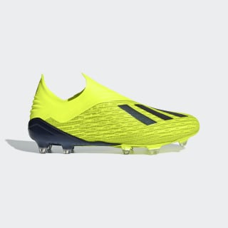 Chuteira X 18+ Campo Solar Yellow / Core Black / Cloud White DB2214