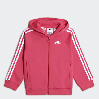 Толстовка Favourite Full Zip real pink s18 / white CF7438
