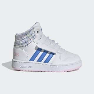 Tenis HOOPS MID 2.0 I ftwr white/real blue/clear pink EE8550