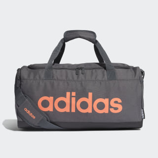 Linear Logo Duffel Bag Grey Six / Black / Signal Coral FM6747