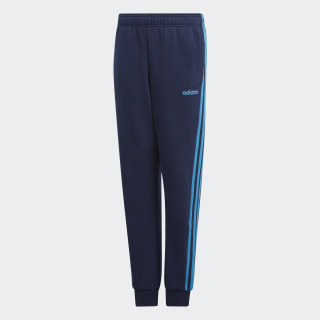 Pantalon Essentials 3-Stripes Collegiate Navy / Shock Cyan DV1795