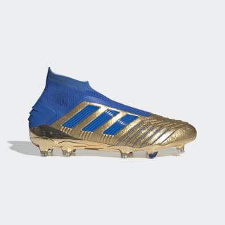 Predator 19+ Firm Ground Voetbalschoenen Gold Met. / Football Blue / Cloud White F35610