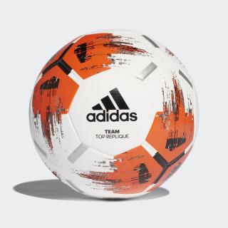 Футбольный мяч TEAM TopRepliqu white / orange / black / iron met. CZ2234