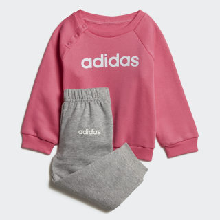 Linear Fleece Jogger Set Semi Solar Pink / White DV1287