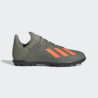 Zapatos de Fútbol X 19.3 Césped Artificial Legacy Green / Solar Orange / Chalk White EF8375