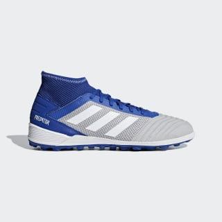 Calzado de fútbol Predator Tango 19.3 Pasto Sintético Grey Two / Cloud White / Bold Blue BC0555