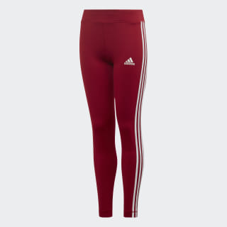 Леггинсы Training Equipment 3-Stripes active maroon / white ED6281