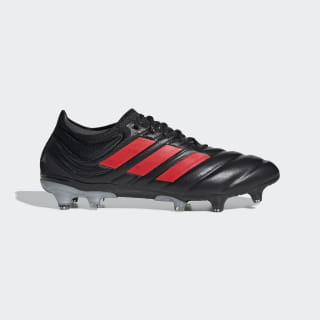 Calzado de Fútbol Copa 19.1 Terreno Firme Core Black / Hi-Res Red / Silver Metallic F35518