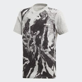 Camiseta Estampa Corrida Essentials medium grey heather / black / white DV1765