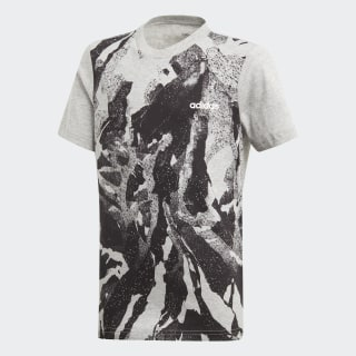Polera Essentials Allover Print medium grey heather / black / white DV1765