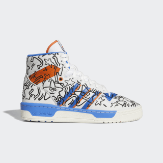 Chaussure Rivalry Hi Keith Haring Crystal White / Blue / Orange EE9296