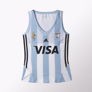 MUSCULOSA DE HOCKEY LEONAS WHITE/CLEAR BLUE AZ3476