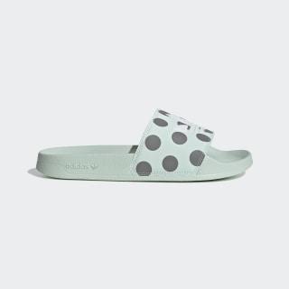 Chancla Adilette Lite Dash Green / Cloud White / Grey Three FU9150