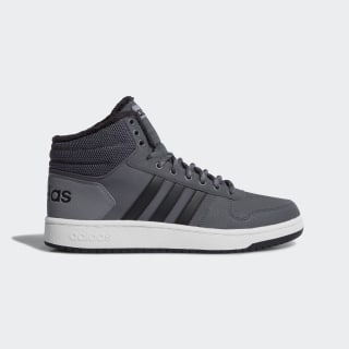 Высокие кеды Hoops 2.0 Mid grey five / core black / grey three f17 CG6615