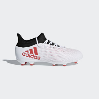 X 17.1 Firm Ground Boots White/Real Coral/Core Black CP8978