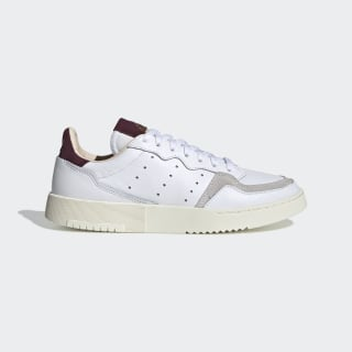 Chaussure Supercourt Cloud White / Cloud White / Maroon EF9225
