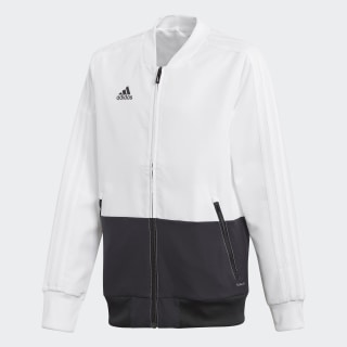 Condivo 18 Presentation Jacket White / Black CF4304