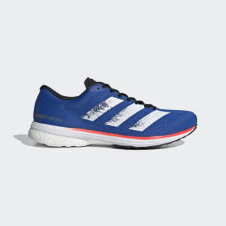 Кроссовки для бега Adizero Adios 5 Glow Blue / Cloud White / Solar Red EG1197