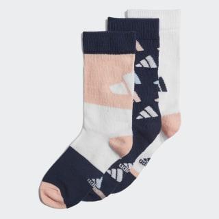 Три пары носков collegiate navy / white / glow pink ED8614