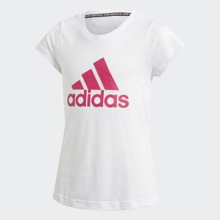 Must Haves Badge of Sport T-Shirt White / Semi Solar Pink DV0321