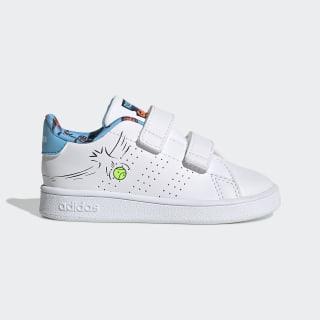 Advantage Shoes Cloud White / Cloud White / Signal Green EG3863