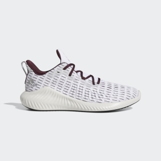 Alphabounce+ Shoes Cloud White / Silver Metallic / Maroon EF8183