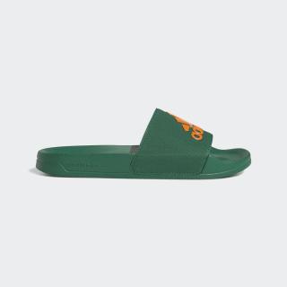 Adilette Shower Slides Dark Green / Orange / Dark Green EE7040