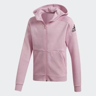 Bluza dresowa z kapturem ID Stadium True Pink / Grey Six / Black DV0298