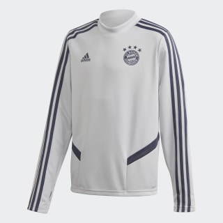 FC Bayern Training Top Lgh Solid Grey / Trace Blue EJ0961