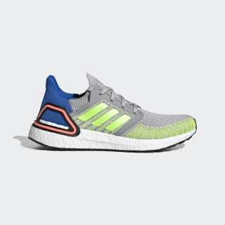 Ultraboost 20 Shoes Grey Two / Signal Green / Glory Blue FX0899